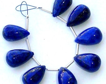 3 Matched Pair,AAA Quality 16x10mm, LAPIS Lazuli Smooth DROPS Shape Briolettes, Gorgeous Item.