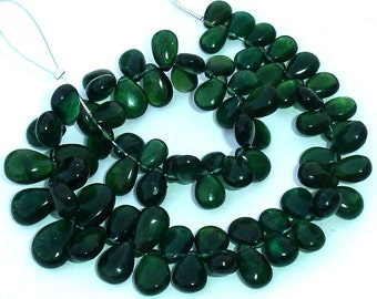 New Arrival, African CHROME GREEN APATITE Smooth Pear Shape Briolettes, 8-10mm larger Size,Great Price