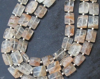 New Arrival, 1/2 Strand Rare AAA Quality ZUBY Quartz Faceted Rectangular Shape Briolettes, 10-11mm Larger Size,Great Price