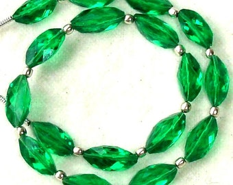 New Arrival,8 Inch Long Strand, EMERALD GREEN QUARTZ Faceted Cardamom Fancy Shaped Briolettes,12mm Long,Great Price Amazing Item