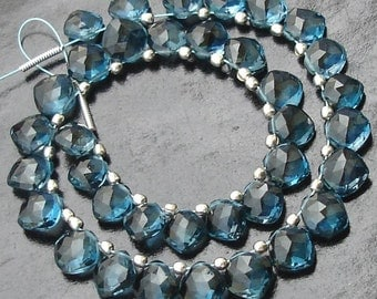 New Arrival, LONDON BLUE Topaz, Amazing CUSHION Shape Briolettes,7-8mm Size,Promotional Price.Great Item at Low Price