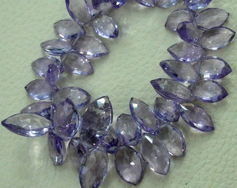 7 INCH, Natural-Super Finest AAA Quality, Pink Amethyst Faceted Marquise Briolettes,10-14mm aprx.Super,Very Fine