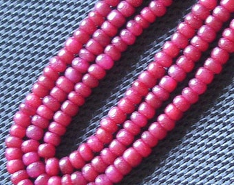 14 Inch, Fresh SUPER Raspberry Red Ruby Smooth rondells, 4mm aprx.Super Quality,Finest Ruby