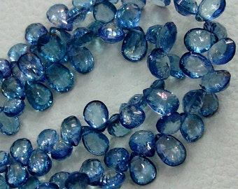TANZANITE BLUE TOPAZ,Very Very Very Superb-Mystic Tanzanite Blue Topaz Concave Cut Pear Briolettes,9-12mm aprx.