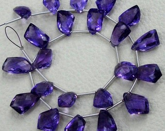 8 Inch-SUPERB-FINEST-aaa Quality AMETHYST Faceted Fancy Cut Briolettes,12-14mm size,aprx,Great Item