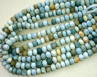 African NATURAL MULTI OPAL,14 Inch Superb-Superb-Superb- Multi Opal Faceted Rondells,6-6.5mm size,Superb Grade