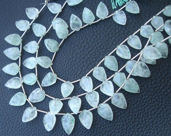 8 Inch Strand, Very-Finest Quality GRAPOLITE Faceted Fancy Pear Briolettes, 12-13mm Long size.