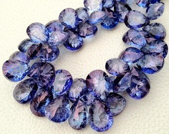 New Arrival, 5 Pieces strand, AAA Quality, Mystic TANZANITE Blue Quartz CONCAVE Cut Pear Shaped Briolettes,11-14mm, Great Price Item