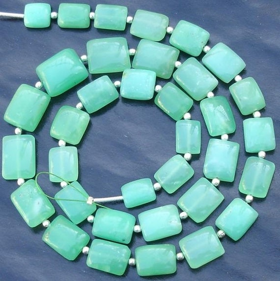 AAA Quality,New Arrival, Chrysoprase Smooth Cushion shape Beads Full Drilled, 15 Pieces of Larger Size,9-14mm Long,Great Price Item