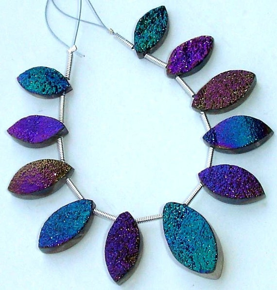 AAA Quality TITANIUM Druzy Marquise Shaped Briolettes, 14-20mm Size,Great Item,Amazing Quality