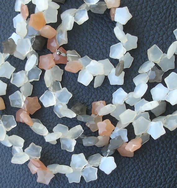 8 Inch Strand,Superb-Finest Quality MULTI MOONSTONE Faceted STAR Shape Briolettes, 9mm size,Great Item