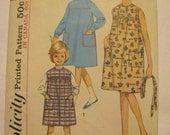 1964 VINTAGE SIMPLICITY PATTERN 5417 Girls Dress Jumper Belt Size 6