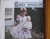 UNCUT Daisy Kingdom Simplicity Pattern Girls Dress Hairbow and Doll Clothes Size 3 4 5 6