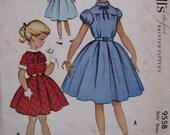 Vintage McCalls Pattern Girl Child's Dress Size 6