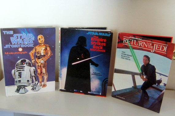 3 vintage Star Wars movie storybooks with full-color photographs