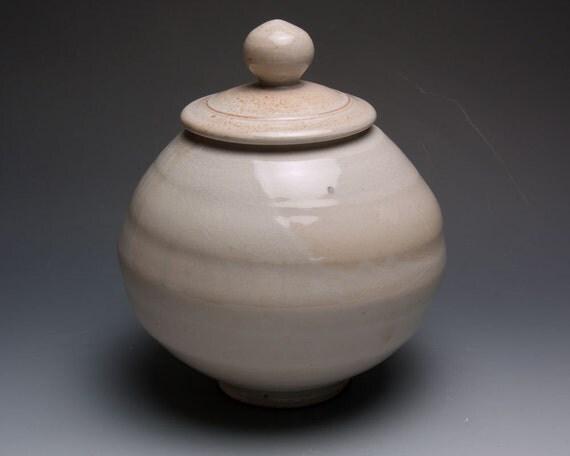 Sale White Shino Cookie Jar 147