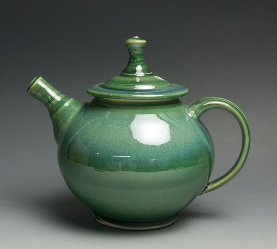 Jade green porcelain two cup plus teapot - 416