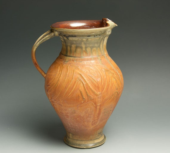 Handcrafted stoneware pitcher or vase 473