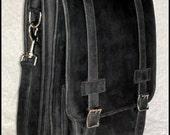 DIAZ Small Geunine Leather Messenger Satchel / Backpack Laptop Bag Dakota Black - (13in MacBook Pro / Air) - Free Shipping - VPDN