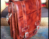 DIAZ Small Leather Messenger Satchel / Backpack Laptop Bag in Antique Tanned Brown - (13in MacBook Pro / Air)