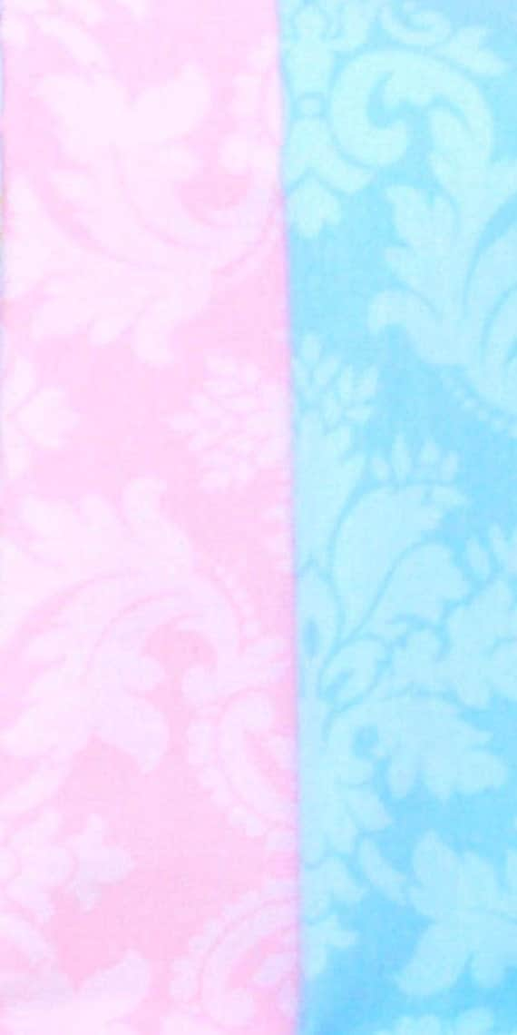 Pastel 9 Feet Party Banner, Bunting, Pennant Flags, Wedding Decor, Pink and Blue Damask, Photo Prop, Baby Girl Nursery