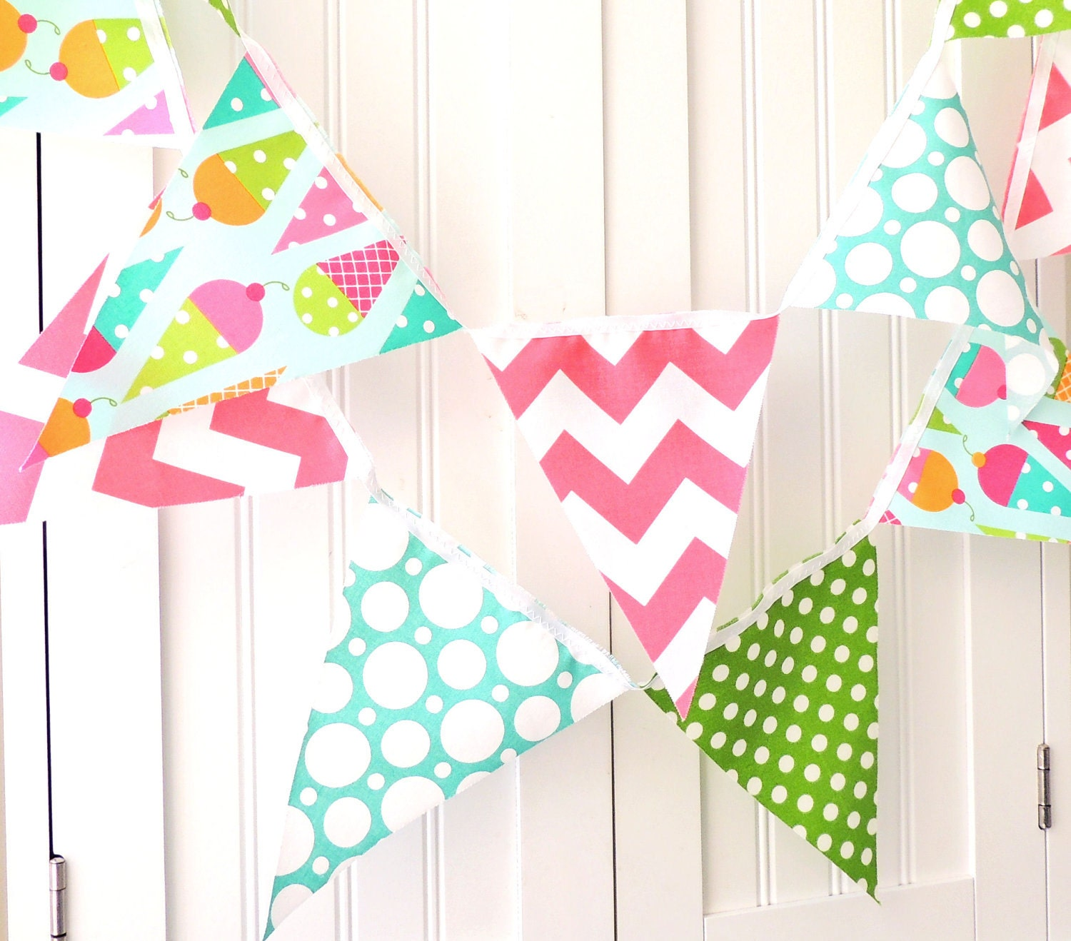 Banner Birthday Party Bunting Fabric Pennant Flags Garland