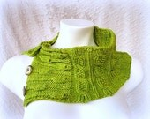 Direct Download PDF knitting pattern Flowers and Leaves Cowl