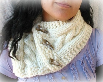 Direct Download Simple Cabled Cowl PDF Knitting Pattern