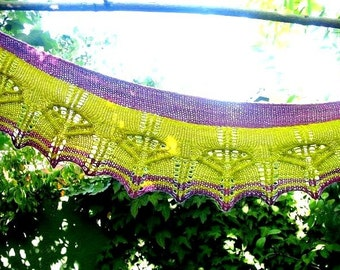 Vaire Shawlette PDF Knitting Pattern, Four Sizes