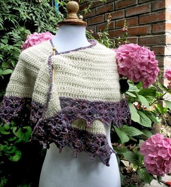 Crochet Shawls: Free Crochet Shawl Pattern - with Crochet Flower