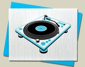 Handmade Letterpress Superstar DJs Card