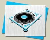 Handmade Letterpress Superstar DJs Stationery Boxed Set of Four