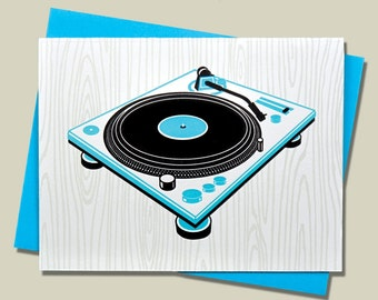 Handmade Letterpress Superstar DJs Card