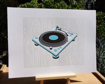 Handmade Letterpress Superstar DJs Print