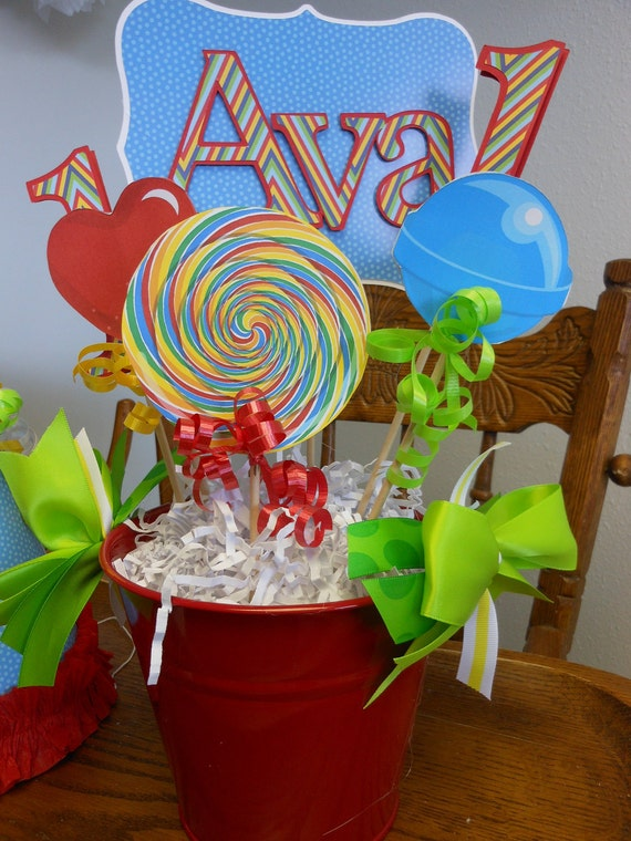 Items similar to candy land birthday centerpiece boy or