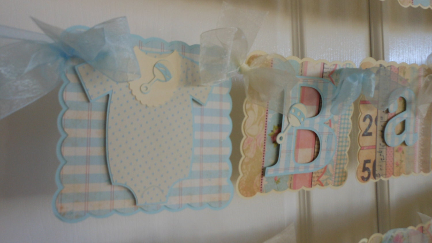 Baby Shower Banner Boy Shabby Chic By Asweetcelebration On