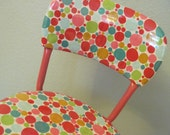 OOAK Polka Dot Swivel Bar Stool