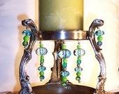 Candle Holder, Repurposed Silver-Plate Beaded Candle Holder by passingtimeandchimes on Etsy