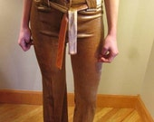 ON SALE Vintage 1970s Velour Pants New Old Stock S M GORGEOUS