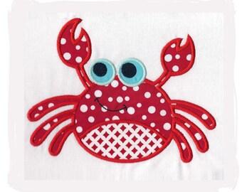 Crab machine Embroidery applique
