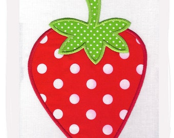 Strawberry Machine Embroidery Applique Design