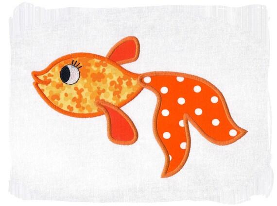 GoldFish Machine Applique Embroidery Design