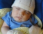 MADE TO ORDER- Super soft and delicate hand knitted hat for Newborn. 6 colors available