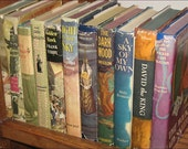 RESERVED for The Wee Shelf  Vintage Book Bundle Instant Collection 1940's