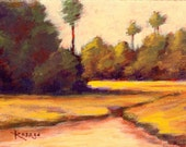 Carolina Marsh... NC Coastal Landscape... Original painting by Rosage... 6x8""