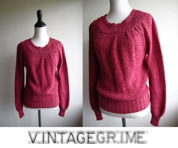 nanette - 80s knitted sweetheart sweater