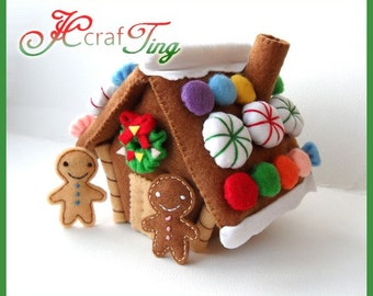 Gingerbread House PDF pattern
