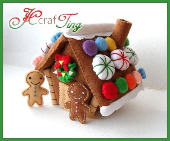 Gingerbread House PDF pattern