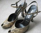 Vintage Prada Peep Toe Heels
