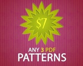 3 PDF crochet patterns of your choice